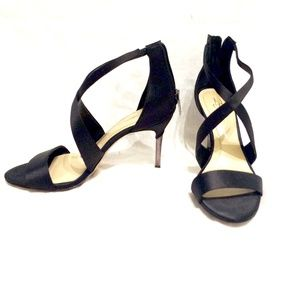 Imagine Vince Camuto Black Satin Stilettos 8.5